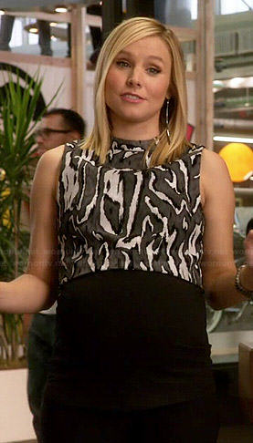 Jeannie's zebra striped crop top on House of Lies