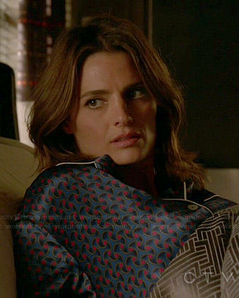 Kate's printed pajamas on Castle