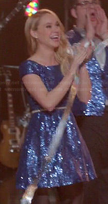 Kitty's (and others) blue sequin dress on Glee