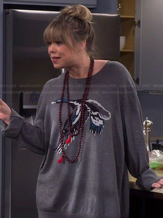 Kristin's duck sweater on Last Man Standing
