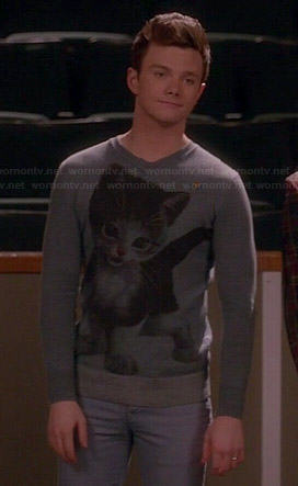 Kurt's kitten sweater on Glee