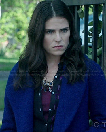 Laurel's blue coat on How to Get Away with Murder