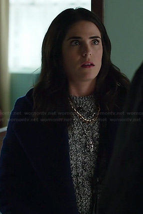 Laurel's marled cable knit sweater on How to Get Away with Murder