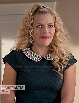 Laurie's beaded collar dress on Cougar Town