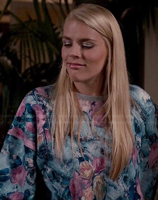 Laurie's floral sweatshirt on Cougar Town