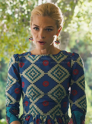 Lemon's geometric printed dress on Hart of Dixie