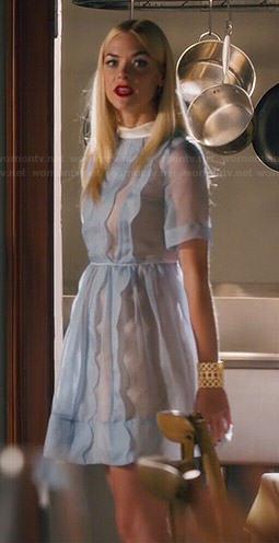 Lemon's sheer blue scalloped dress on Hart of Dixie