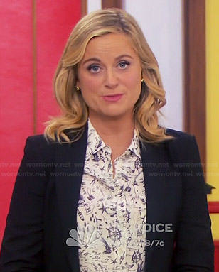 Leslie's nautical printed blouse on Parks and Recreation