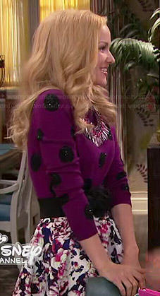 Liv's purple polka dot sweater on Liv and Maddie