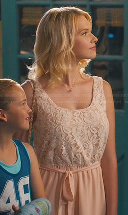 Magnolia's peach lace dress on Hart of Dixie