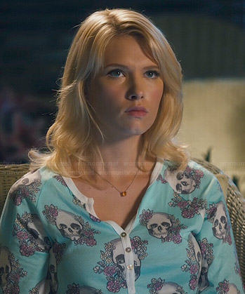 Magnolia's skull print pajamas on Hart of Dixie