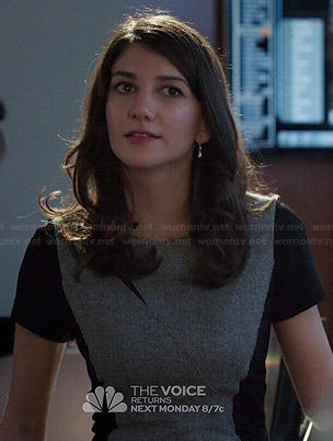 Maureen's grey and black colorblock dress on State of Affairs