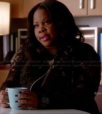 Mercedes's black lace jacket on Glee