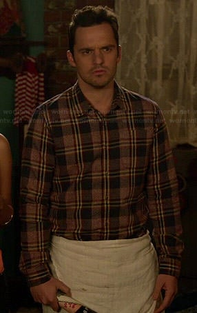 Nick's plaid shirt on New Girl