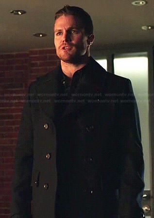 Oliver's pea coat on Arrow