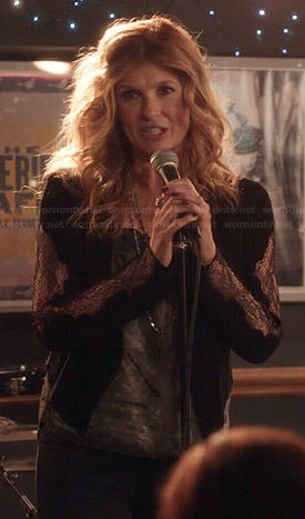Rayna's black lace sleeved jacket on Nashville