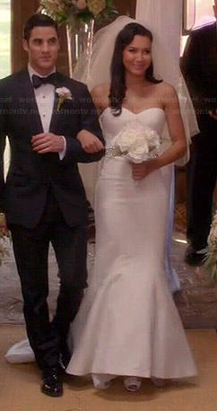 Santana's wedding dress on Glee