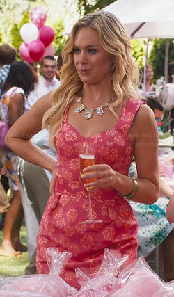 Shelby's orange floral and check print dress on Hart of Dixie