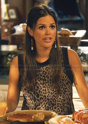 Zoe's sleeveless leopard print top on Hart of Dixie