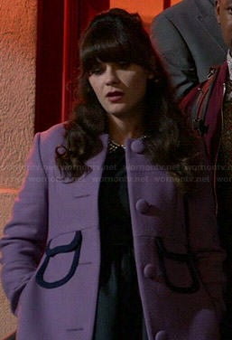 Jess's purple coat on New Girl