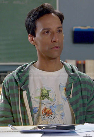 Abed's yellow duck tee on Community