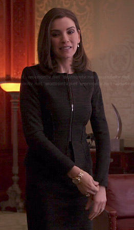 Alicia's brown skirt suit on The Good Wife