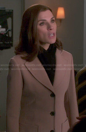 Alicia's camel coat on The Good Wife