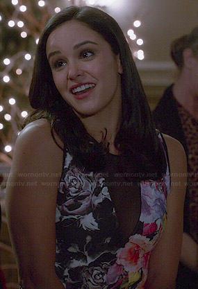 Amy's floral mesh panel dress on Brooklyn Nine-Nine