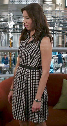 Angela's polka dot shirtdress on Bones
