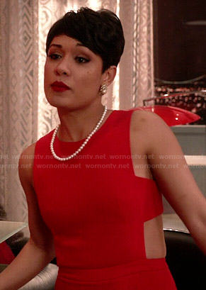 Anika's red jumpsuit on Empire