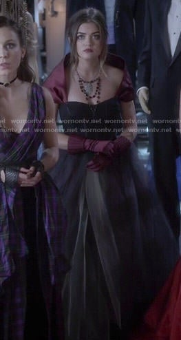 Aria's prom dress on Pretty Little Liars