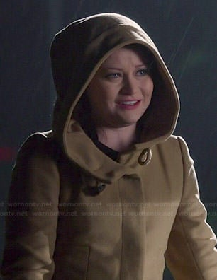 Belle's hooded coat on Once Upon a Time