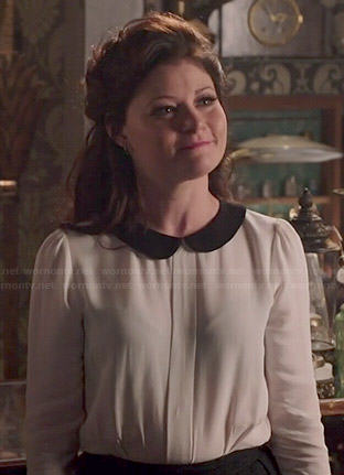 Belle's white blouse with black peter pan collar on Once Upon a Time