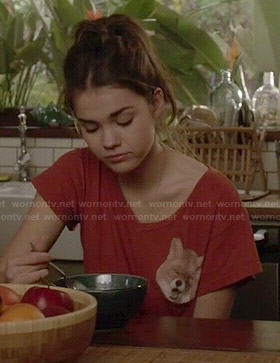 Callie's red fox tee on The Fosters