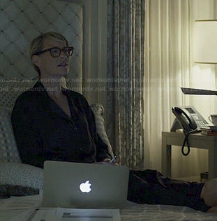 Claire's black pajamas on House of Cards