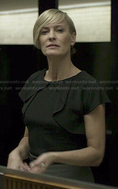 Claire's black overlay blouse on House of Cards