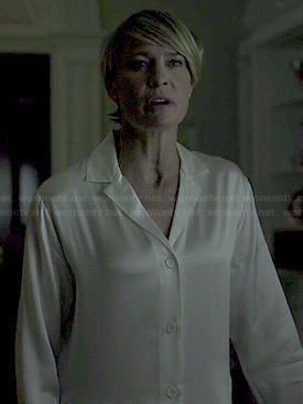 Claire's white pajamas on House of Cards