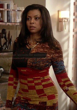 Cookie's mixed print long sleeve dress on Empire