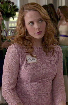 Daphne's lavender lace dress on Switched at Birth