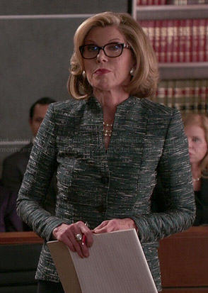 Diane's green flecked jacket on The Good Wife