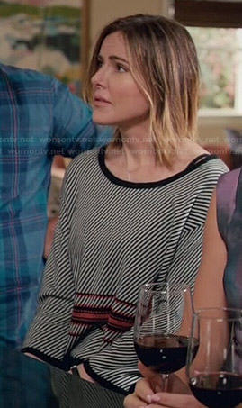 Ellie's diagonal striped sweater on Cougar Town