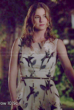 Emily's white floral illusion dress on Revenge