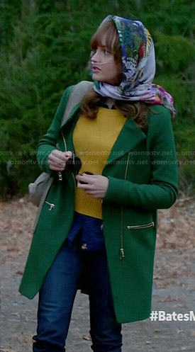 Emma's green coat on Bates Motel