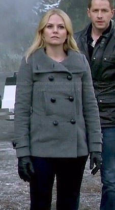 Emma's grey pea coat on Once Upon a Time
