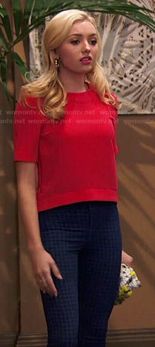 Emma's red top and checked jeans on Jessie