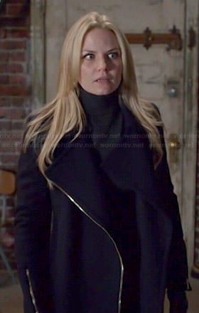 Emma's zip front coat on Once Upon a Time
