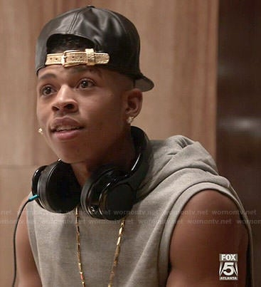 Hakeem's grey sleeveless hoodie on Empire