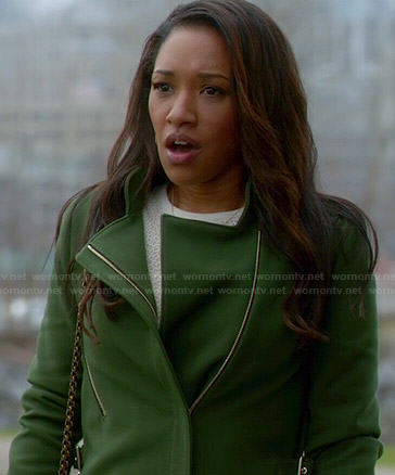 Iris's green coat on The Flash