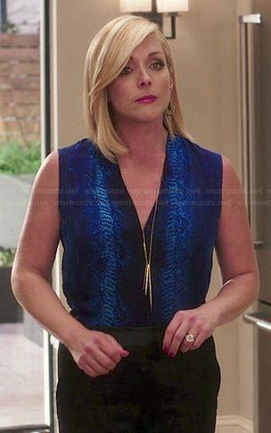 Titus's colorblock suit jacket on Unbreakable Kimmy Schmidt