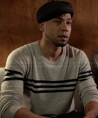 Jamal's grey striped sweater on Empire